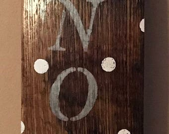 """Whiskey Barrel Stave """"Let it snow"""" wall decor"""
