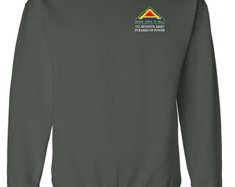 United States 7th Army Embroidered Sweatshirt-7108