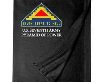 "United States 7th Army ""Pyramid of Power"" Embroidered Blanket-7096"