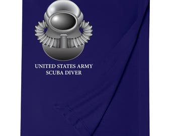 US Army SCUBA Embroidered Blanket-7775