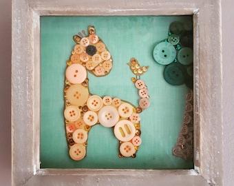 Giraffe button art