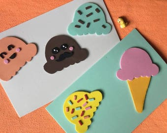 VIPKID reward system, ice cream reward system, ice cream magnets, kawaii ice cream magnets