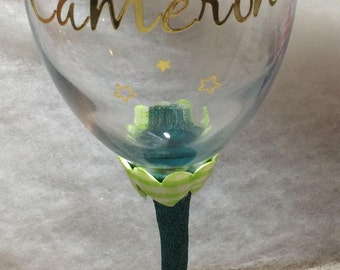 Personalised Glitter Glass