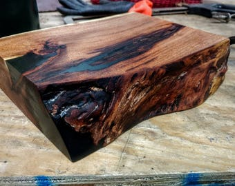 Modern Live Edge Mesquite Wood Bonsai Tree / Houseplant Stand