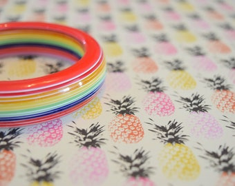 Rainbow Lucite Bangle | Bracelet