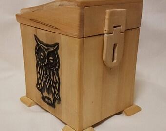 Unique Owl Wooden Jewelry Box