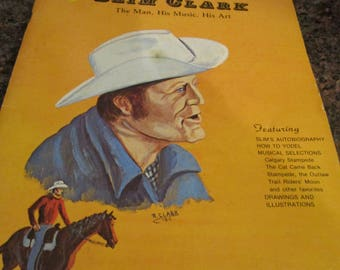 Autographed Slim Clark Yodelin Song Book