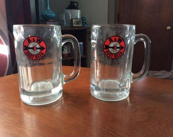 Vintage 1960's A&W Glass Root Beer Mug.  12 ounces.  60s ice cold logo.