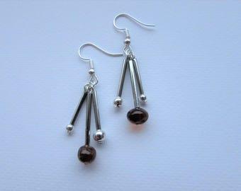 3-piece Amber Dangle Earrings