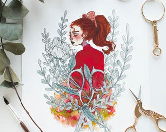 Arrietty Print - Signed (A4)