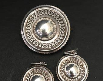Victorian Earrings & Brooch Set