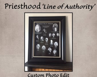 Priesthood 'Line of Authority' Picture, Priesthood Line of Authority, LDS Priesthood Picture, Custom Photo Edit
