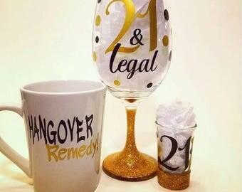 21 & Legal Drinking Set