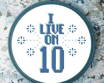 I live on ten are you on 10 yet kendrick lamar X cross stitch pattern *PATTERN ONLY* pdf instant download