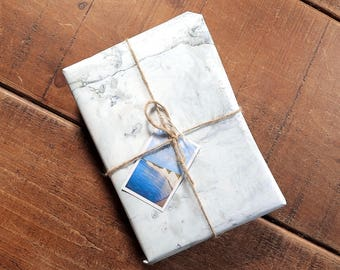 Chalk Eco Wrapping Paper and Gift Tag