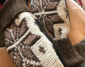 Babydoll Wool and recycled sweater mittens