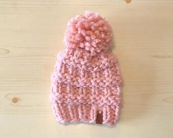 children's chunky blush knit