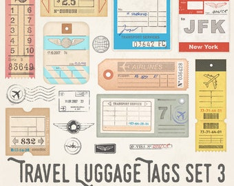 Travel Luggage Illustrations Set 3