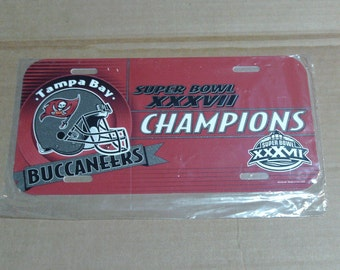 Tampa Bay Buccaneers Super Bowl XXXVII (37) Champions License Plate