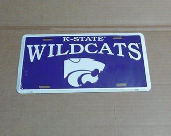 Kansas State Wildcats License Plate