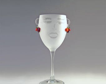 Carmen Wine Glass - a Carmen Miranda Brazil-fest with every sip!
