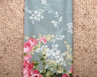 LARGE Reusable Cotton Beeswax Food Wrap Vintage Floral Rose Duckegg Blue Pink Red Green 30cm x 30cm Zero Waste