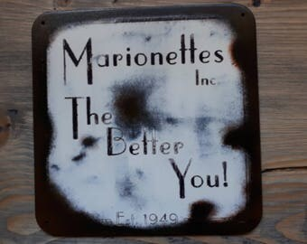 Marionette's Inc - Old Time Radio SciFi inspired wall hanger - (No Strings Version)