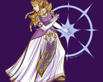 12x12 Princess Zelda Print