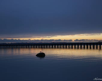 Seattle, Washington,Sunset,Ocean Sunset, 20x30, large photography
