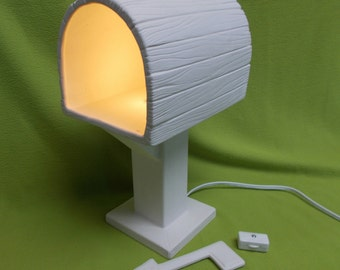 Ceramic bisque Lighted Mailbox-ready to paint