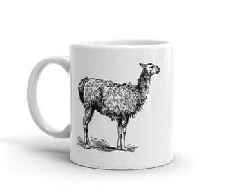 Llama Mug, Llama Gifts for Llama Lovers, Animal Mug, Llama Coffee Mug, Llama Drawing