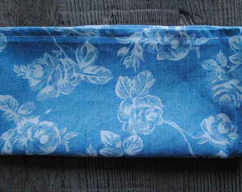 Blue Denim/White Floral Cloth Napkin