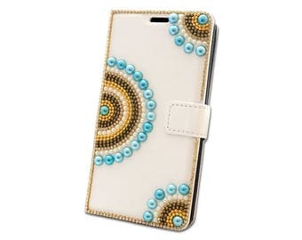 Valantine's Day Case Phone Luxury Rhinestone Crystal Bling Strass Flip Slot Cards Wallet Leather Lovely Jewelled for many phone models