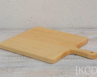 Handmade ivory like maple serving / cutting board 260 x 460 x 20 mm