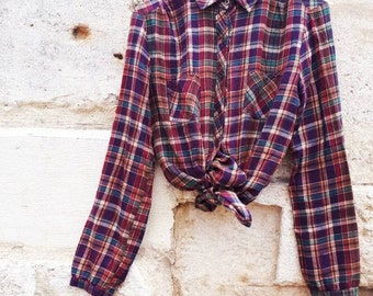 Vintage 1980's Plaid Shirt lumberjack.