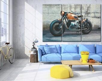 BMW wall art※ Motorbike canvas※ Motorbike wall art※ Large Bike Canvas, Motorcycle decor, Motorbike print, BMW Motorbike wall decor