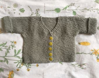 Baby's Hand-Knitted Cardigan
