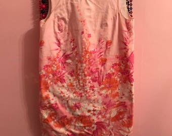 Comfy cotton floral shift dress from the '60s