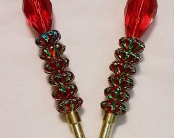 Tall crystal pegs