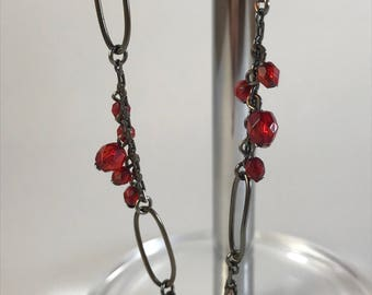 Anne Klein Vintage Red Beaded Necklace