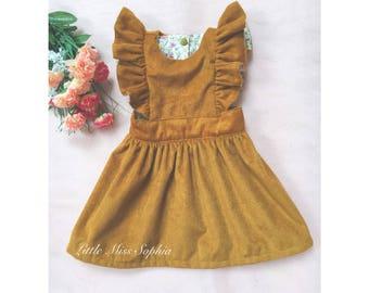 Corduroy Pinafore Dress