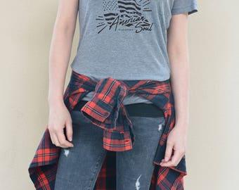 T-American Soul Women's V-Neck T-Shirt
