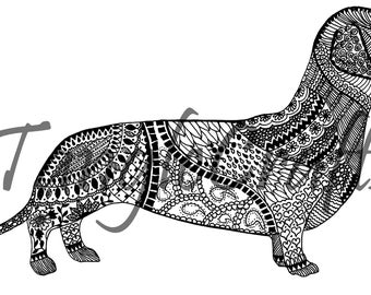 Devoted Dachshund (297mm x 210mm)