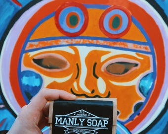 MANLY CLUB Beard Soap Organic Premium Hand Made All Natural Men's Care All Round Soap