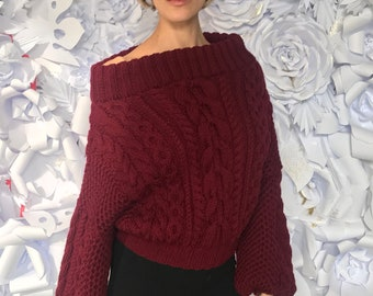 Bordeaux Merino Wool Pullover