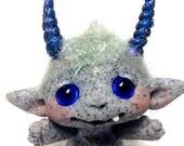 """OOAK Baby Goblin Trollfling Troll doll """"Zakki"""" by Amber Matthies"""