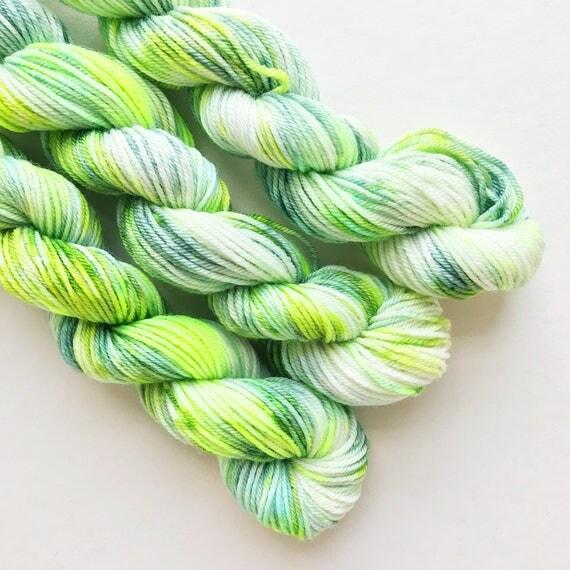 SNOW CEDAR hand dyed yarn mini skein