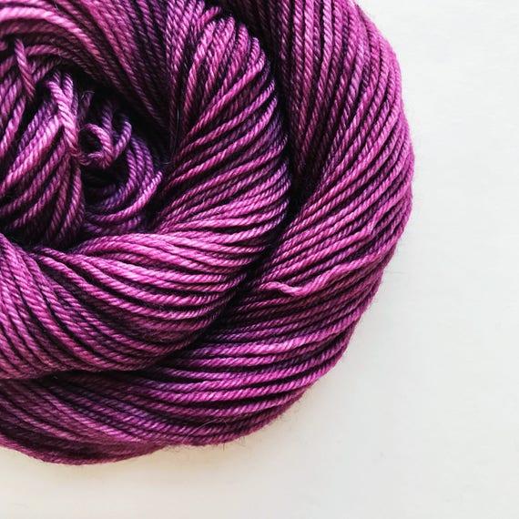 PLUM hand dyed yarn
