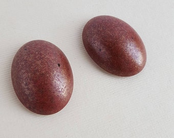 Vintage deep red and gold cabochons