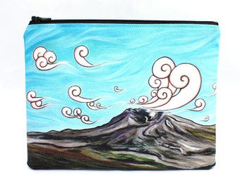 Beauty From Ashes - Zipper Pouch - Magical Scene of Mt. St. Helens Volcano - Art by Marcia Furman